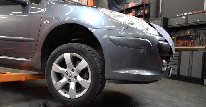 Traggelenk Peugeot 307 SW 2.0 HDI 110 2004 wechseln: Kostenlose Reparaturhandbücher