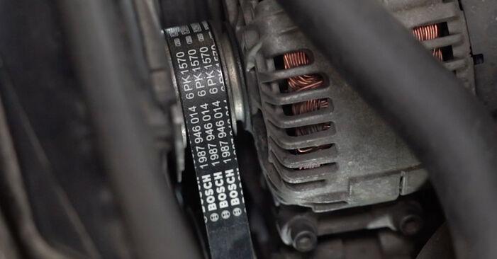 AUDI A4 2006 V formos rumbuotas diržas išsami keitimo instrukcija