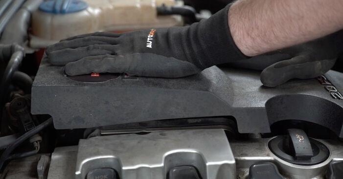 AUDI A4 3.0 TDI quattro V formos rumbuotas diržas keitimas: internetiniai gidai ir vaizdo pamokos