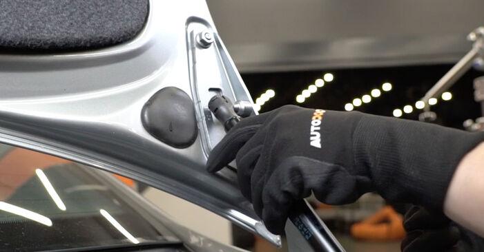 Jaké náročné to je, pokud to budete chtít udělat sami: Vzpery Kufra výměna na autě Audi A4 B7 Sedan 2.0 TFSI 2005 - stáhněte si ilustrovaný návod
