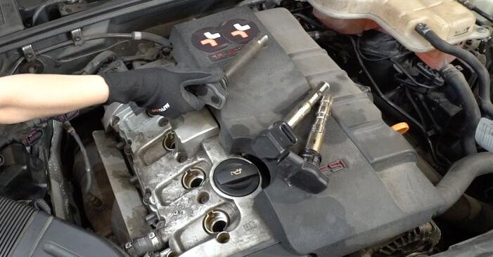 Как да демонтираме AUDI A4 2.0 2008 Запалителна свещ - онлайн лесни за следване инструкции