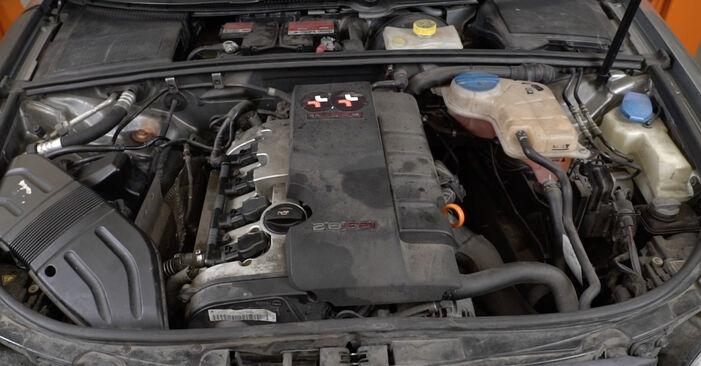 Slik bytter du AUDI A4 Sedan (8EC, B7) 2.0 TDI 16V 2005 Drivstoffilter selv – trinn-for-trinn veiledninger og videoer