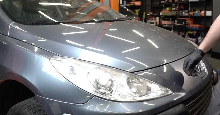 Kaip pakeisti Paskirstymo diržas / komplektas la Peugeot 307 SW 2002 - nemokamos PDF ir vaizdo pamokos