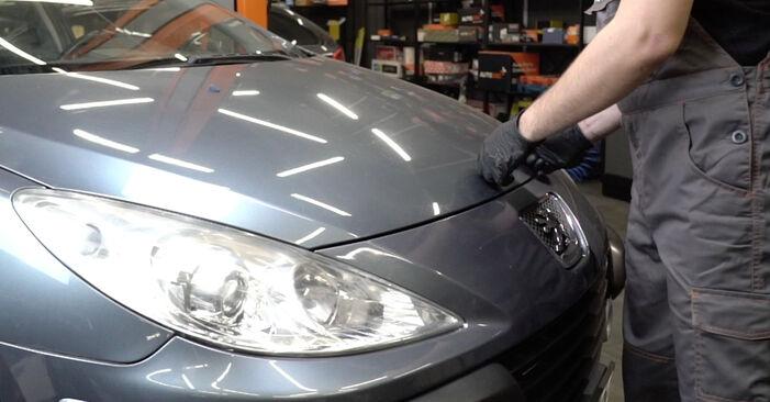 Austauschen Anleitung Motorlager am Peugeot 307 SW 2004 1.6 HDI 110 selbst