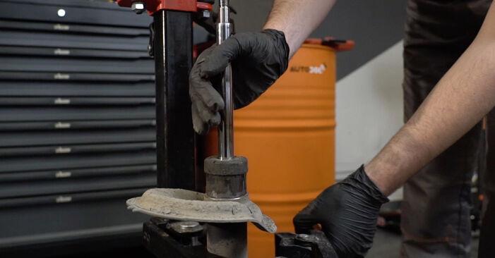 Wie schwer ist es, selbst zu reparieren: Stoßdämpfer Peugeot 307 SW 1.6 HDI 90 2008 Tausch - Downloaden Sie sich illustrierte Anleitungen