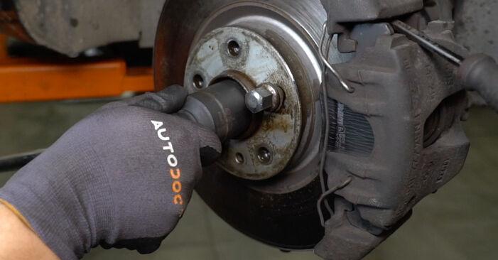Wie schwer ist es, selbst zu reparieren: Radlager Alfa Romeo 147 937 2.0 16V T.SPARK 2006 Tausch - Downloaden Sie sich illustrierte Anleitungen