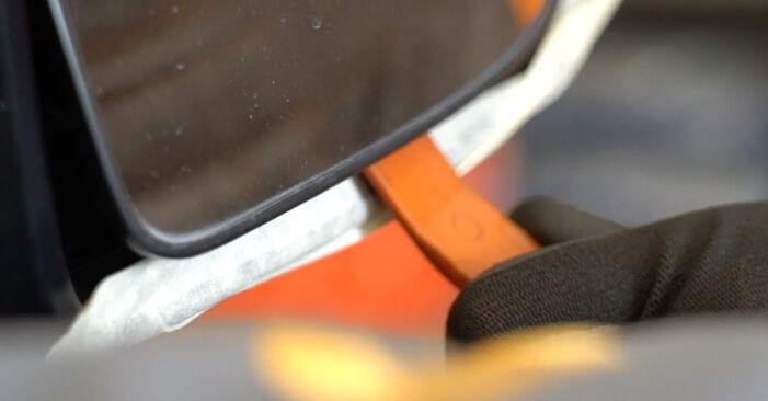 Spiegelglas Nissan Qashqai j10 1.6 2008 wechseln: Kostenlose Reparaturhandbücher