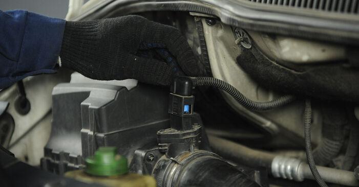VW Multivan T5 2.0 TDI 2005 Luchtfilter remplaceren: kosteloze garagehandleidingen