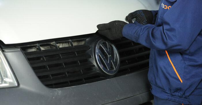 VW MULTIVAN 2010 Veerpootlager stap voor stap instructies voor vervanging