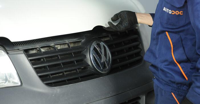 VW Multivan V (7HM, 7HN, 7HF, 7EF, 7EM, 7EN) 1.9 TDI 2004 Veerpootlager zelf remplaceren– online tutorial