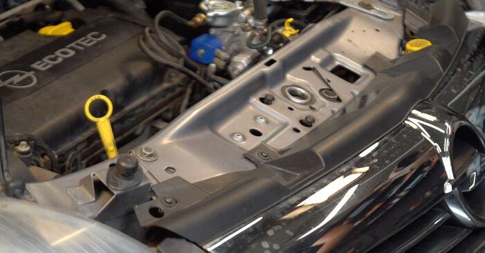 ZAFIRA B (A05) 1.6 CNG (M75) 2005 Luftfilter - Wegleitung zum selbstständigen Teileersatz
