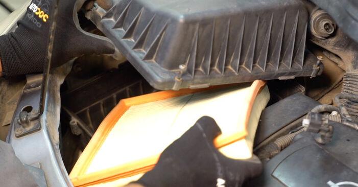 Wie man Luftfilter am OPEL ZAFIRA B (A05) 2010 wechselt – Laden Sie sich PDF-Wegleitungen und Videoanweisungen herunter