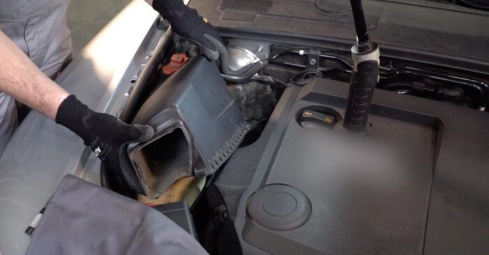 Wechseln Sie Luftfilter beim AUDI A6 Limousine (4F2, C6) 2.7 TDI 2007 selbst aus