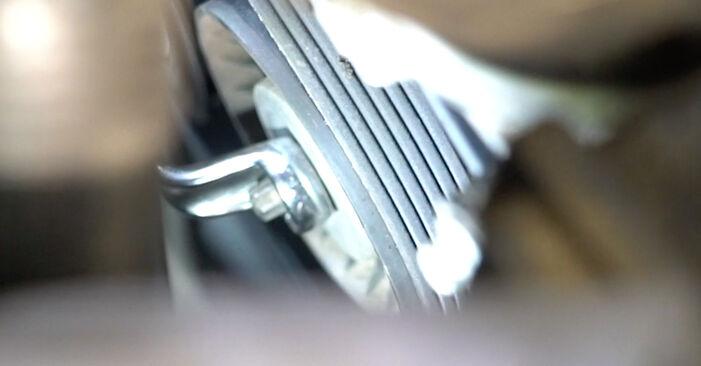 Wie lange benötigt das Auswechseln der Teile: Keilrippenriemen beim Mercedes W203 2000 - Detailliertes PDF-Tutorial