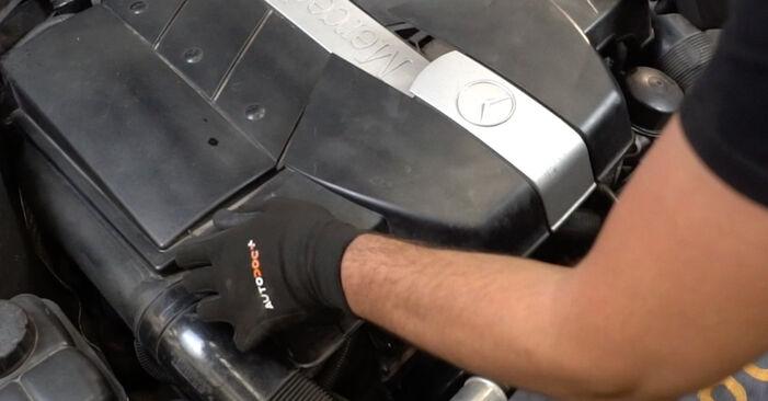 Mercedes W203 C 180 1.8 Kompressor (203.046) 2002 Keilrippenriemen austauschen: Unentgeltliche Reparatur-Tutorials