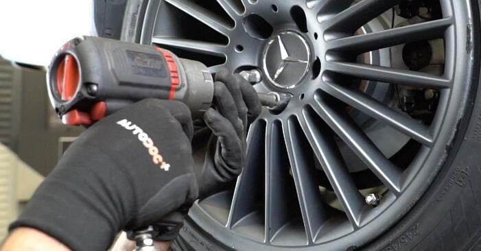 Mercedes W211 2007 E 280 CDI 3.0 (211.020) Lengőkar csináld magad csere - javaslatok lépésről lépésre