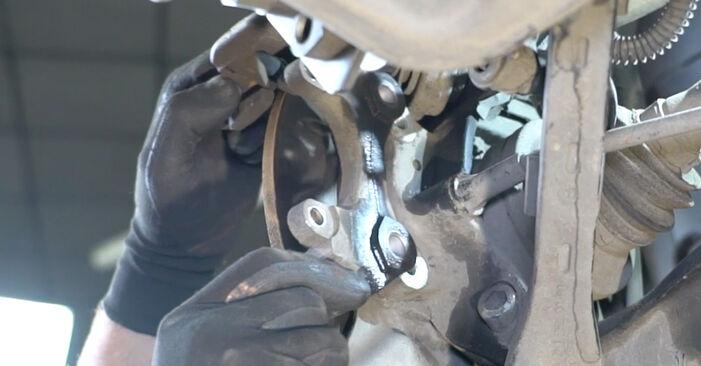 Svépomocná výměna Brzdovy kotouc na MERCEDES-BENZ Třída E Sedan (W211) E 220 CDI 2.2 (211.008) 2005