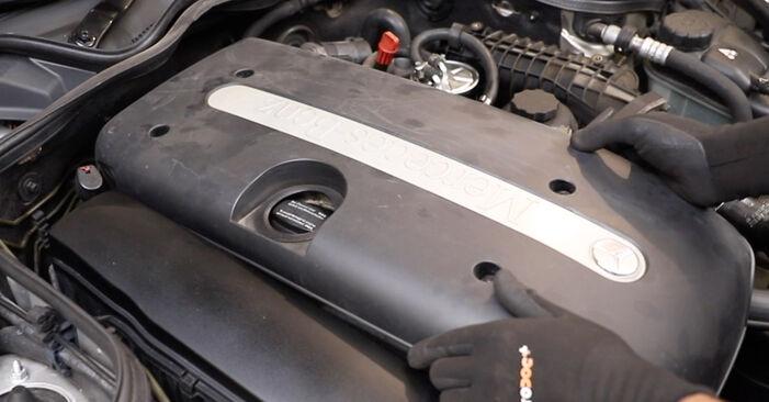Stufenweiser Leitfaden zum Teilewechsel in Eigenregie von Mercedes W211 2007 E 280 CDI 3.0 (211.020) Keilrippenriemen