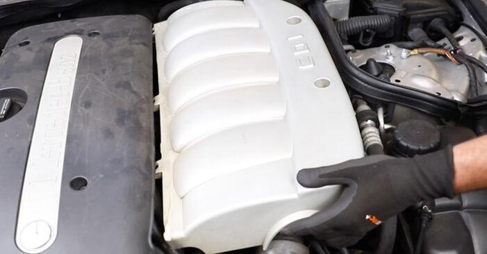 Wie Keilrippenriemen beim Mercedes W211 2002 gewechselt werden - Unentgeltliche PDF- und Videoanweisungen