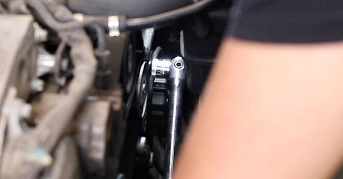 Wie problematisch ist es, selber zu reparieren: Keilrippenriemen beim Mercedes W211 E 320 CDI 3.0 (211.022) 2008 auswechseln – Downloaden Sie sich bebilderte Tutorials