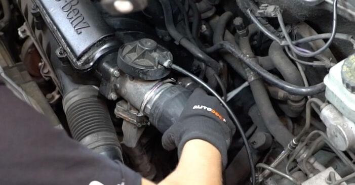 Schritt-für-Schritt-Anleitung zum selbstständigen Wechsel von Mercedes W168 2002 A 190 1.9 (168.032, 168.132) Luftfilter