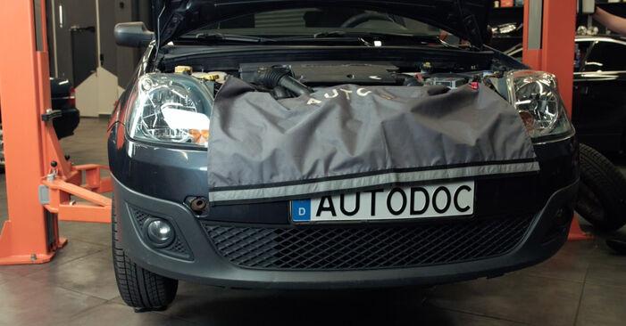 Ford Fiesta Mk5 1.4 16V 2003 Skersinės vairo trauklės galas keitimas: nemokamos remonto instrukcijos