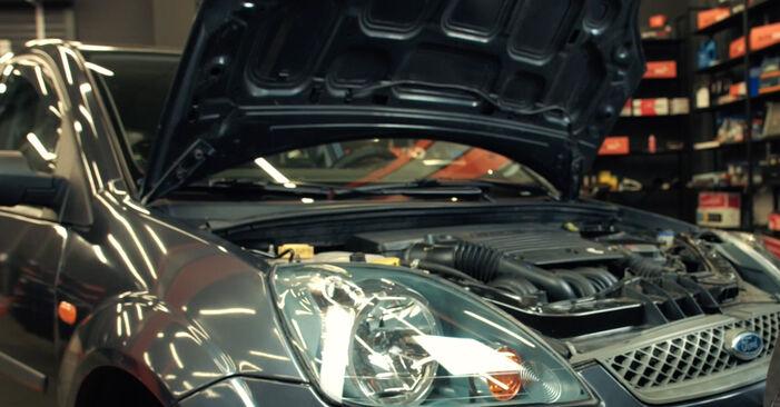 Hur byta Oljefilter på Ford Fiesta Mk5 2001 – gratis PDF- och videomanualer