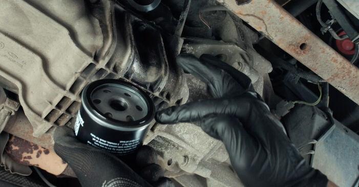 Byt Fiesta Mk5 Hatchback (JH1, JD1, JH3, JD3) ST150 2.0 2002 Oljefilter – gör det själv med verkstadsmanual