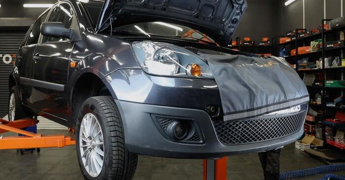 Så byter du FORD Fiesta Mk5 Hatchback (JH1, JD1, JH3, JD3) 1.4 TDCi 2002 Oljefilter – manualer och videoguider att följa steg för steg
