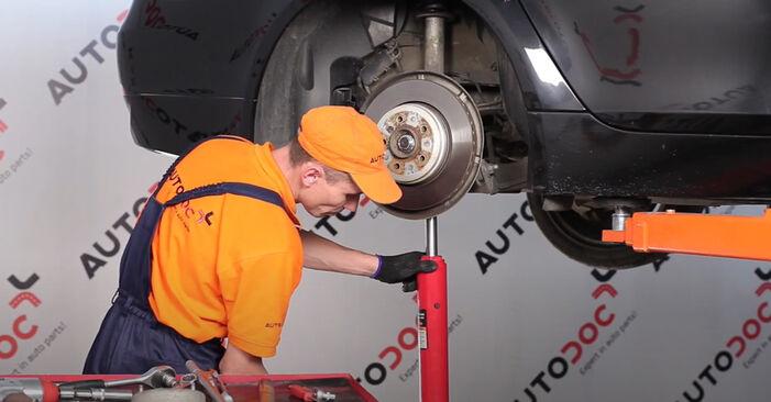 Kiek užtrunka keitimas: BMW E60 2009 Amortizatoriaus Atraminis Guolis - informatyvi PDF instrukcija