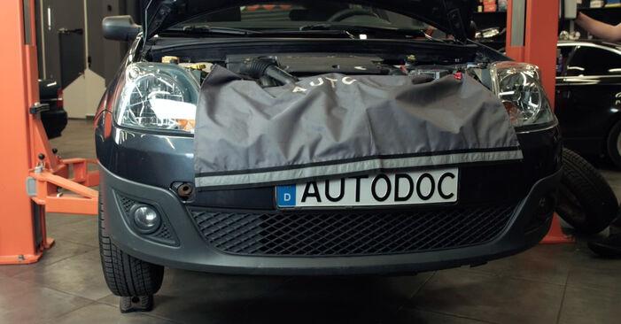 Ford Fiesta Mk5 1.4 16V 2003 Zkrutna tyc výměna: bezplatné návody z naší dílny