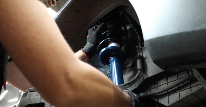 Wie Stoßdämpfer Ford Fiesta Mk5 1.4 TDCi 2001 tauschen - Kostenlose PDF- und Videoanleitungen