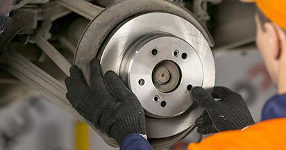 MERCEDES-BENZ C-CLASS C 220 2.2 (202.022) Bremsscheiben ersetzen: Tutorials und Video-Wegleitungen online