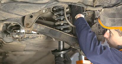 Wie schwer ist es, selbst zu reparieren: Federn Mercedes W202 C 250 D 2.5 (202.125) 1999 Tausch - Downloaden Sie sich illustrierte Anleitungen