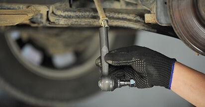 Wie schwer ist es, selbst zu reparieren: Spurstangenkopf Opel Astra g f48 2.0 DI (F08, F48) 2004 Tausch - Downloaden Sie sich illustrierte Anleitungen