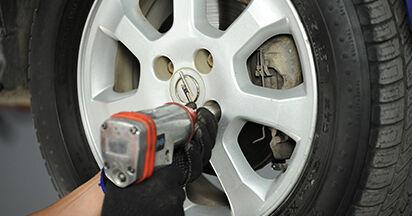 Austauschen Anleitung Spurstangenkopf am Opel Astra g f48 2008 1.6 16V (F08, F48) selbst