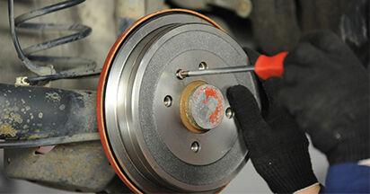 Bremstrommel am VW LUPO (6X1, 6E1) 1.7 SDI 2003 wechseln – Laden Sie sich PDF-Handbücher und Videoanleitungen herunter