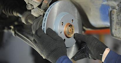 VW LUPO 2005 Remschijven stapsgewijze handleiding voor vervanging