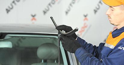 Mercedes W211 E 270 CDI 2.7 (211.016) 2004 Tergicristalli sostituzione: manuali dell'autofficina