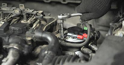 Schritt-für-Schritt-Anleitung zum selbstständigen Wechsel von Ford Focus 2 da 2008 1.6 Ti Kraftstofffilter