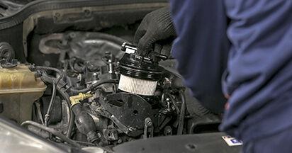 PEUGEOT 407 (6D_) 2.0 2010 Kraftstofffilter selbst wechseln - Handbuch online