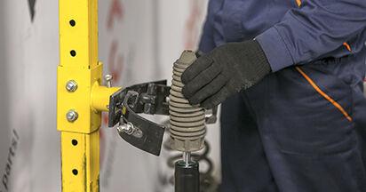 Cómo reemplazar Amortiguadores en un PEUGEOT 407 (6D_) 2.0 HDi 135 2005 - manuales paso a paso y guías en video