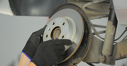 How to remove OPEL ASTRA 1.9 CDTI (L48) 2008 Brake Discs - online easy-to-follow instructions