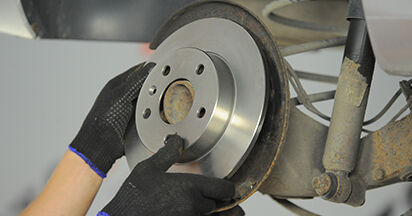 How to replace Brake Discs on OPEL ASTRA H (L48) 2009: download PDF manuals and video instructions