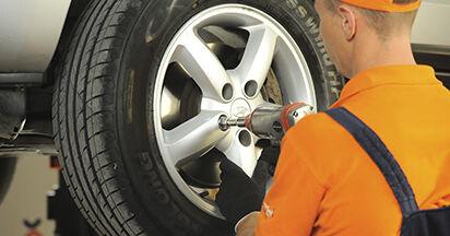 Wie Bremsbeläge Hyundai Santa Fe cm 2.2 CRDi 4x4 2005 tauschen - Kostenlose PDF- und Videoanleitungen