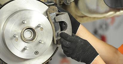 Wie HYUNDAI SANTA FE 2.2 CRDi GLS 2009 Bremsbeläge ausbauen - Einfach zu verstehende Anleitungen online