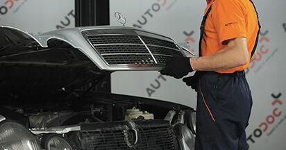 Combien de temps dure le remplacement : Filtre à Air sur Mercedes W210 2003 - manuel PDF informatif
