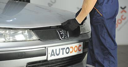 Jak vyměnit Vzduchovy filtr na Peugeot 406 Combi 1996 - bezplatné PDF a video návody