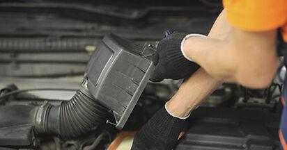Jaké náročné to je, pokud to budete chtít udělat sami: Vzduchovy filtr výměna na autě Peugeot 406 Combi 2.0 HDi 110 2002 - stáhněte si ilustrovaný návod