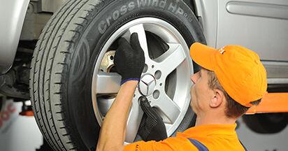 Wie schwer ist es, selbst zu reparieren: Bremsbeläge Mercedes Viano W639 CDI 2.0 (639.811, 639.813, 639.815) 2009 Tausch - Downloaden Sie sich illustrierte Anleitungen